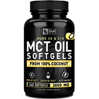 Pure MCT Oil Capsules (360 Softgels | 3000mg) 4 Month Supply MCT Oil Keto Pills...