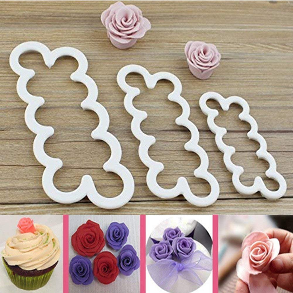 Cake Decorating Gumpaste Flowers The Easiest Rose Ever Cutter Cookie Cutters, Set of 3 Consio SYNCHKG110678