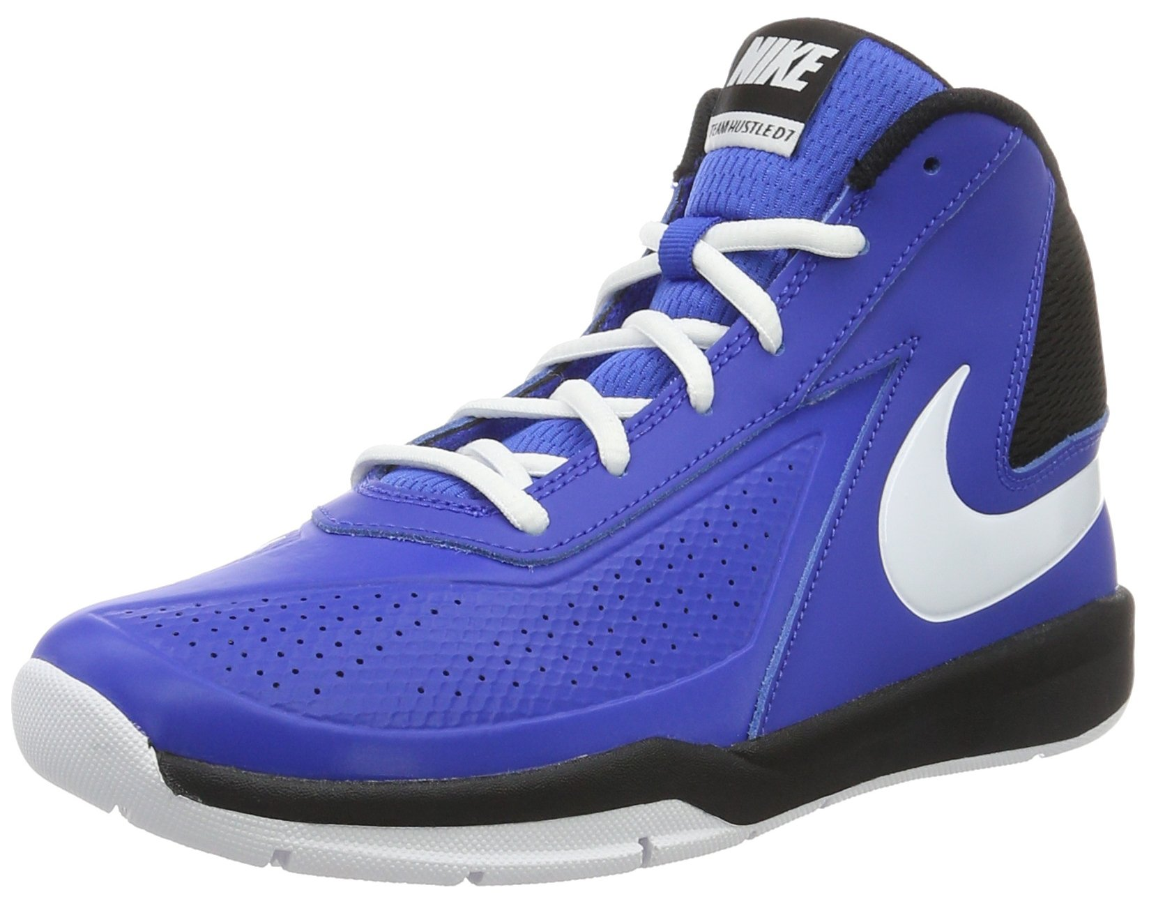 c389492439d5 Galleon - Nike Boy s Team Hustle D 7 Basketball Shoe Game Royal White Black  Size 6 M US