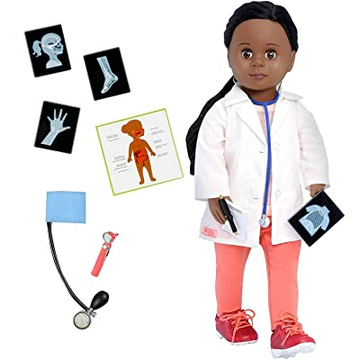 Our Generation 18 Inch Doctor Doll, African American, Meagann, Medical Accessories, Stem: Toys & Games