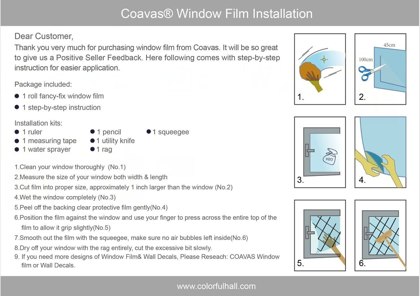 Coavas Non Adhesive Window Film with Creative Flower for Living Room or Home Office Glass (17.7by78.7Inch)