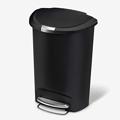 simplehuman-50-Liter-/-13-Gallon-Semi-Round-Kitchen-Step-Trash-Can