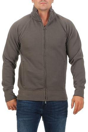 Happy Clothing Herren Sweatjacke Ohne Kapuze Zip-Jacke Reißverschluss mit  Kragen  Amazon.de  Bekleidung c460743833