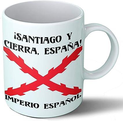 Planetacase Taza Desayuno Imperio español Cruz de Borgoña tercios ...