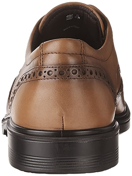 Ecco Lisbon, Zapatos de Cordones Brogue para Hombre, Marrón (Amber), 39 EU