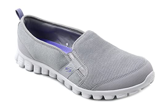 Skechers Women's Grey Slip On Memory Foam Shoes Size 8.5