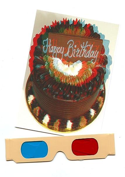Feliz cumpleaños Chocolate Cake- 3d tarjeta de felicitación ...