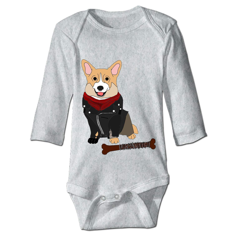 KuLuKo Baby Long Sleeve Bodysuit Elephant Infant Cotton Bodysuits