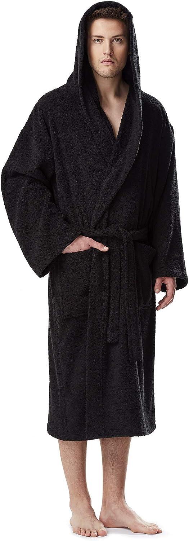 Arus Albornoz de Hombre y Mujer, 100% algodón, Medio-Largo o Maxi-Largo, con Capucha, Bata de baño