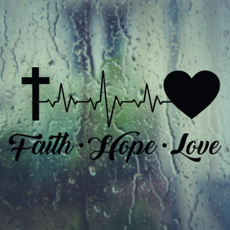 5inch Faith Cross Die Cut Decal Window Sticker Decor Tumbler God Jesus Religious