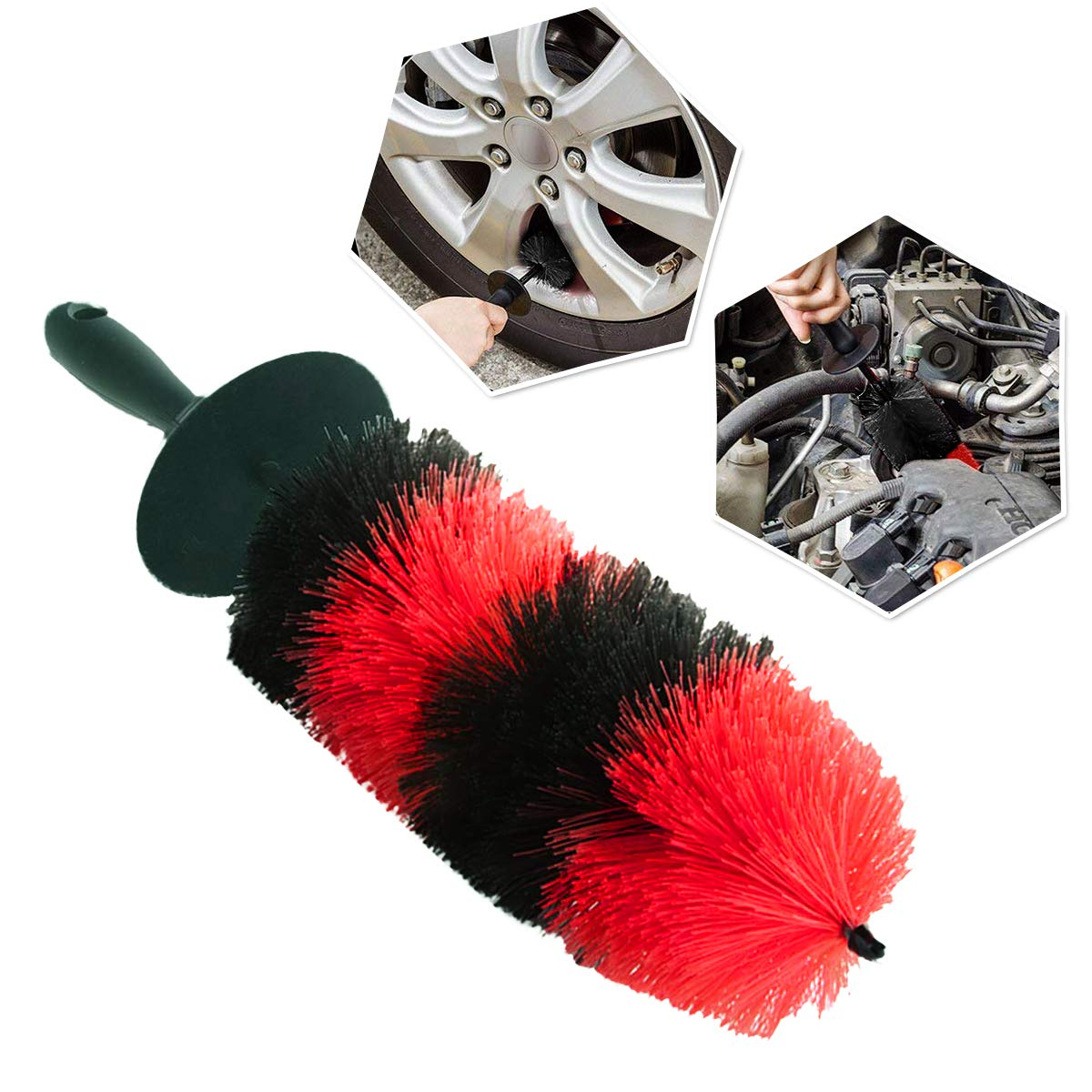 Zone Tech Master Wheel Brush - Premium Quality Durable Multipurpose Wheel and Rim Detailing 18'' Brush Perfect Also for Motorcycles