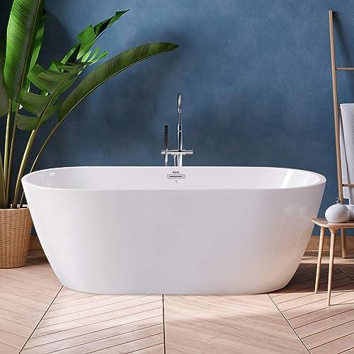 FerdY Bali 59″ Acrylic Freestanding Bathtub