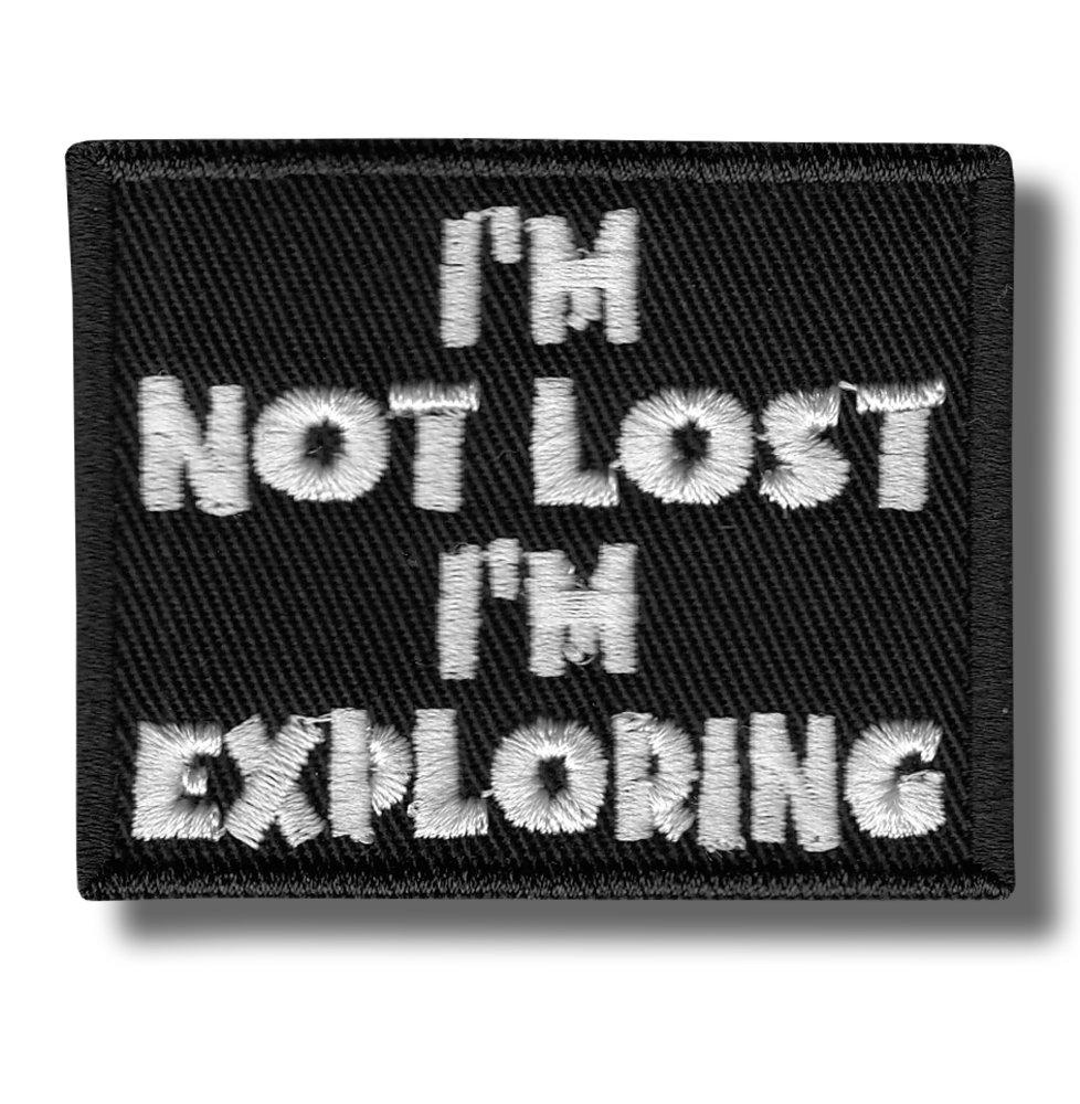 Im not lost bordado parche 6x5 cm