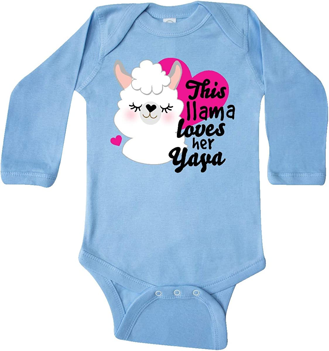 inktastic Valentines Day This Llama Loves Her Yaya Long Sleeve Creeper