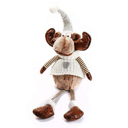 c3ce356895fab ITOMTE Handmade Reindeer Stuffed Figurines - 21 quot  Heaven Sends Plush  Sitting Moose with Dangling Legs