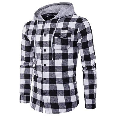 Bestow brigo de Invierno de los Hombres Chaleco de Abrigo Sudadera Suéter Camisas a Cuadros Ocasionales