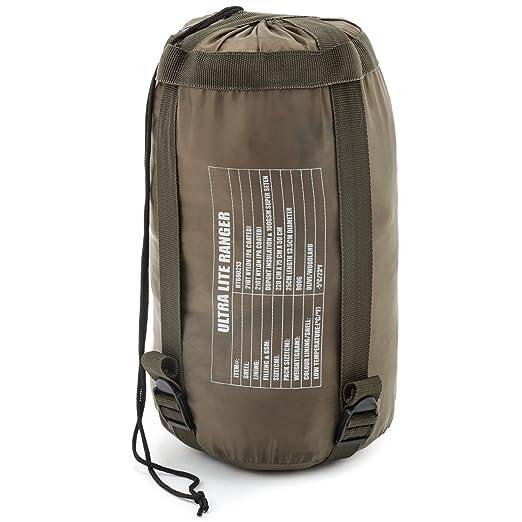 Army Saco de dormir ultra lite Ranger BW Bundeswehr Commando KSK en diferentes colores, negro: Amazon.es: Deportes y aire libre