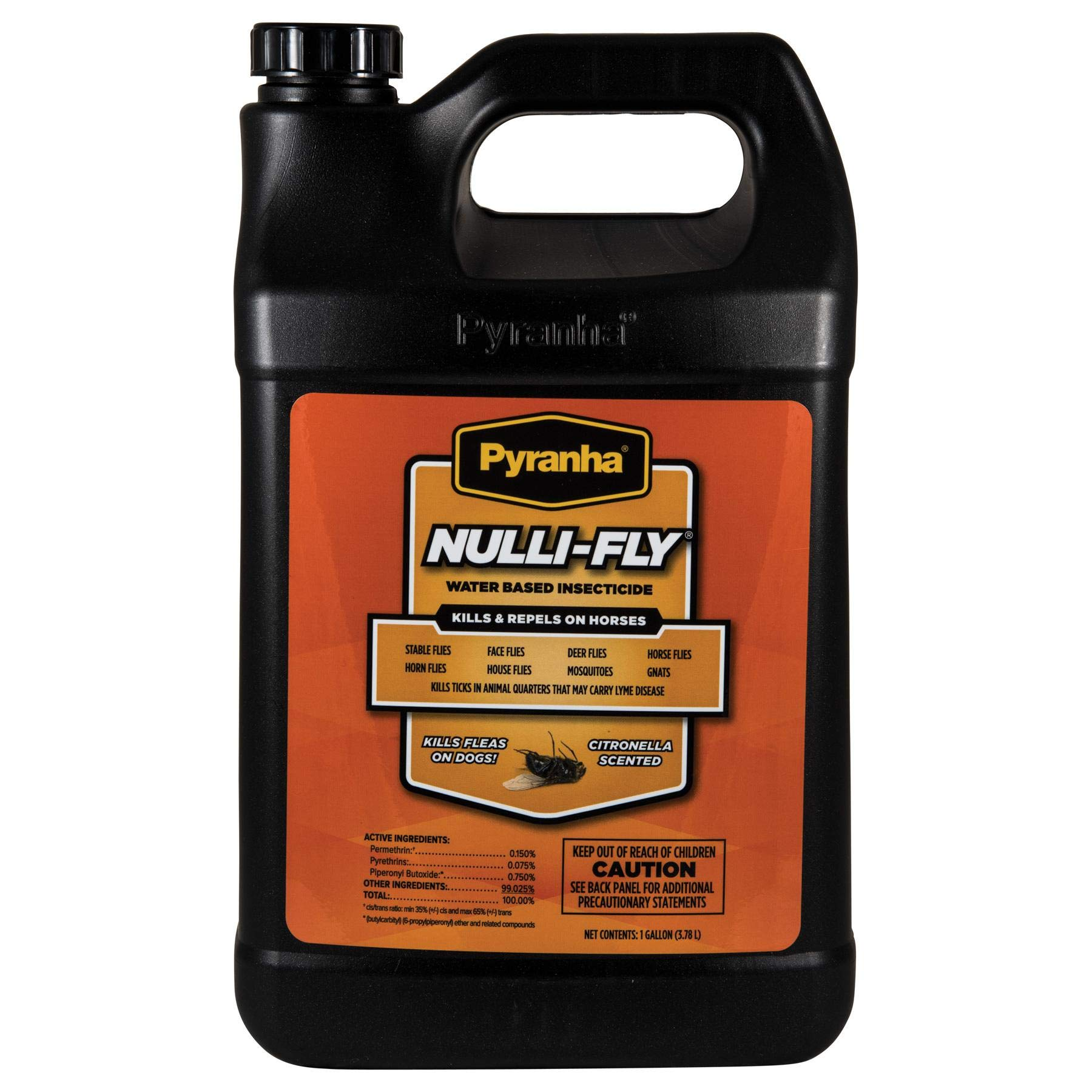 Pyranha Nulli-Fly Horse Pony Dog Water Based Insecticide Citronella Scented Fly Spray Repellent