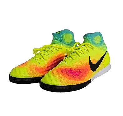 NIKE Magistax Proximo II IC Mens Soccer-Shoes 843957-703 12 - Volt Black 3a53d84df