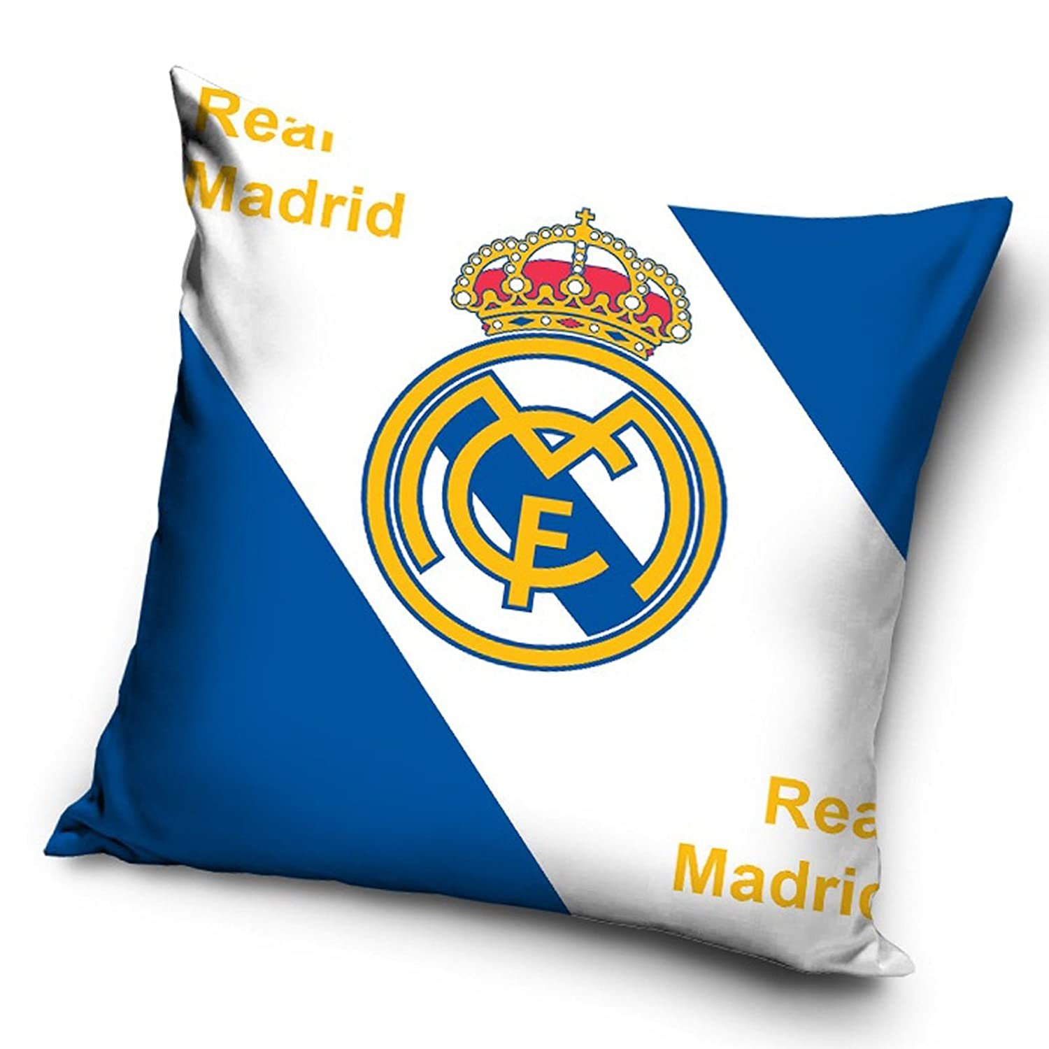 Amazon.com: Real Madrid CF logotipo – Cojín con relleno ...
