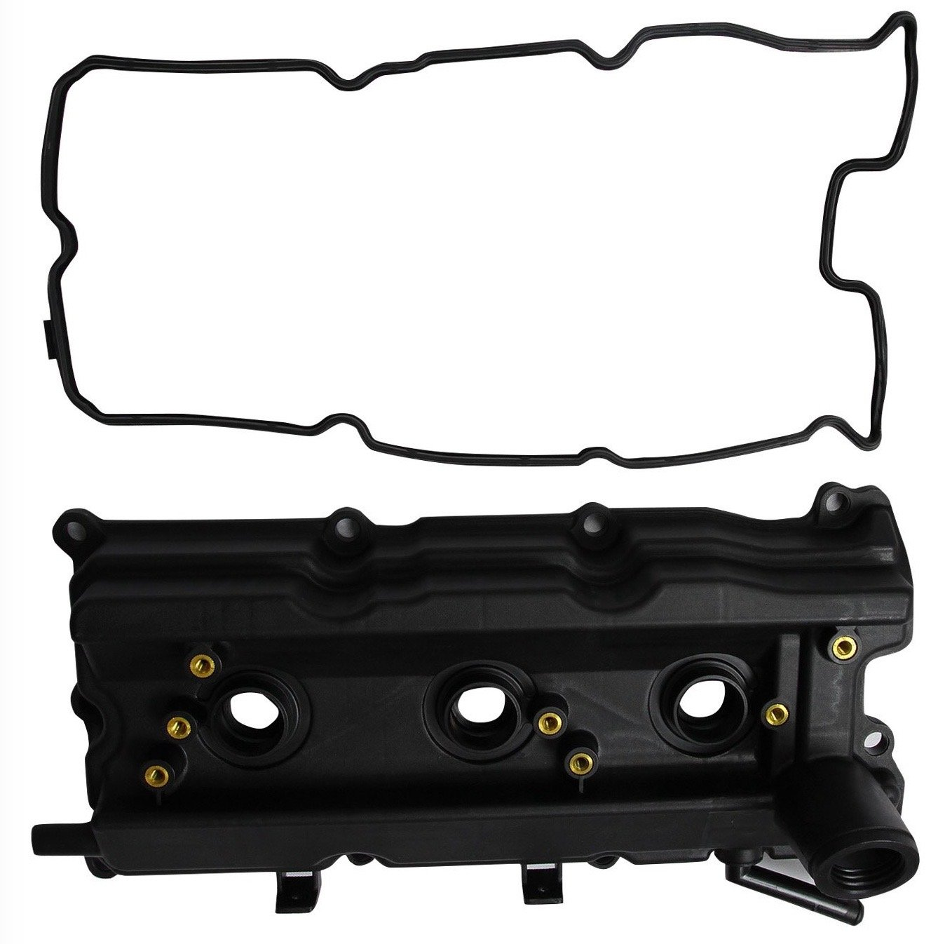 APDTY 139986 Valve Cover w/Gasket Fits Left; Front Of Engine Bay 2003-2006 Nissan 350Z 2003-2008 Infiniti FX35 FX45 2003-2007 G35 2006-2009 M35 (Oil-Fill Side; Replaces 13264-AM610, 13264AM610)