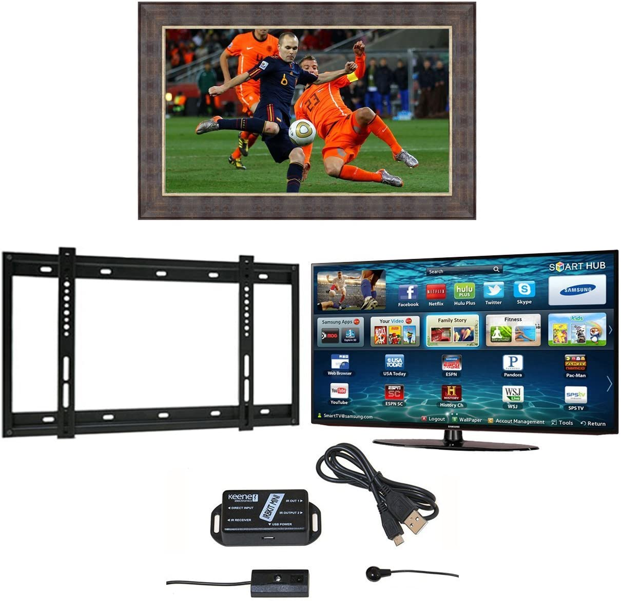 Nueva York TV espejo marco, Samsung M5500 2017 LED Smart TV ...