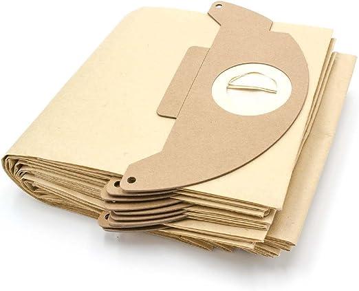 vhbw 10 Bolsa aspiradoras papel compatible con Kärcher 2501, 2501TE, 2601, 2601 plus, 3001, 3001 Plus, A 2120, A 2120 ME, K 3000 plus aspiradora: Amazon.es: Hogar