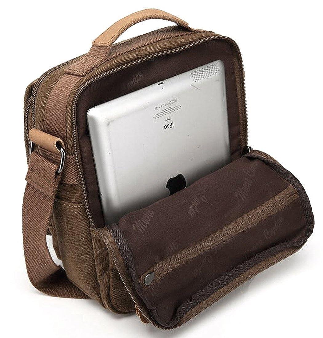 Fansela Summer Small Canvas Messenger Bag Small Travel School Crossbody Shoulder Work Bag TM