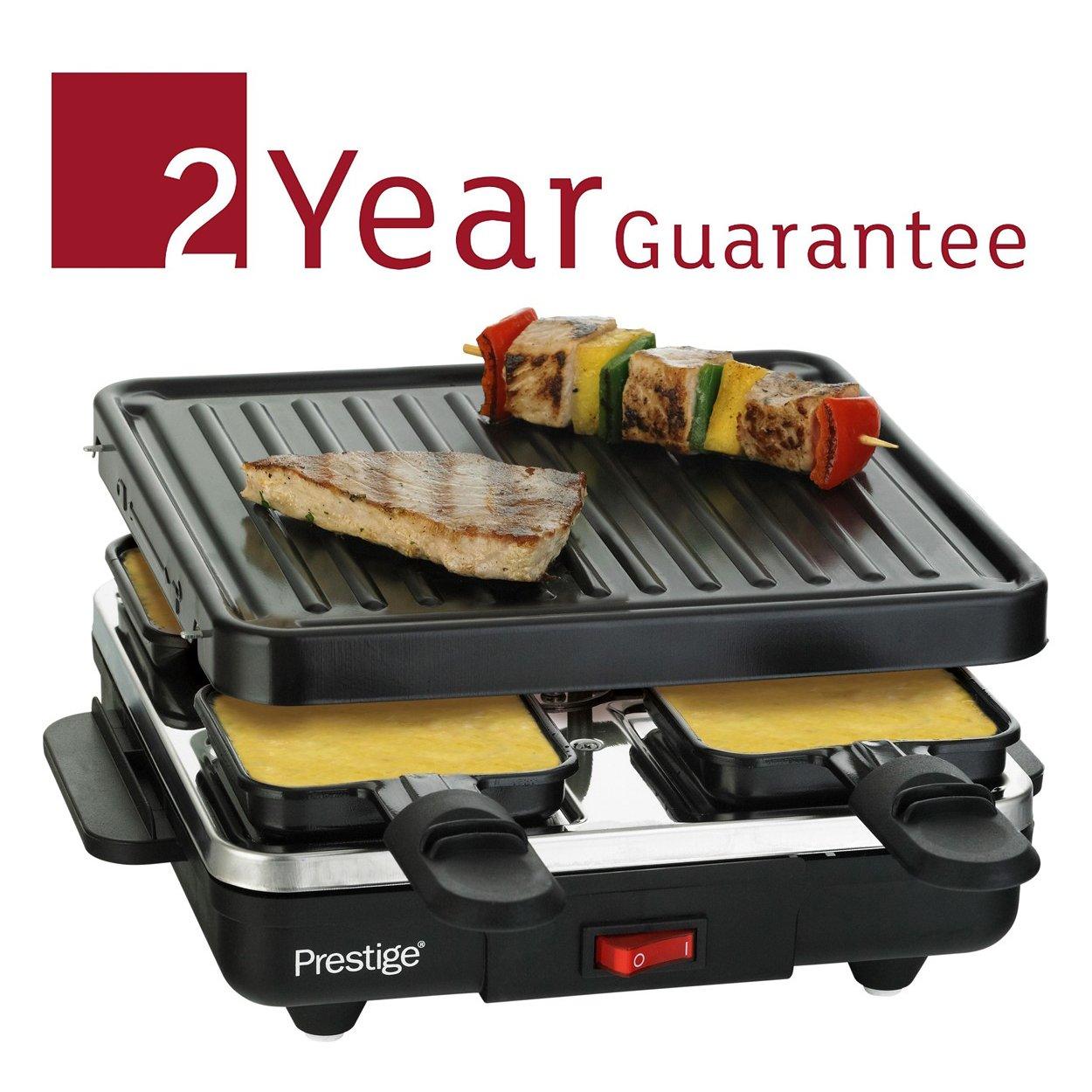 Prestige 59908 Raclette Non-Stick Grill and 4 Mini Pans