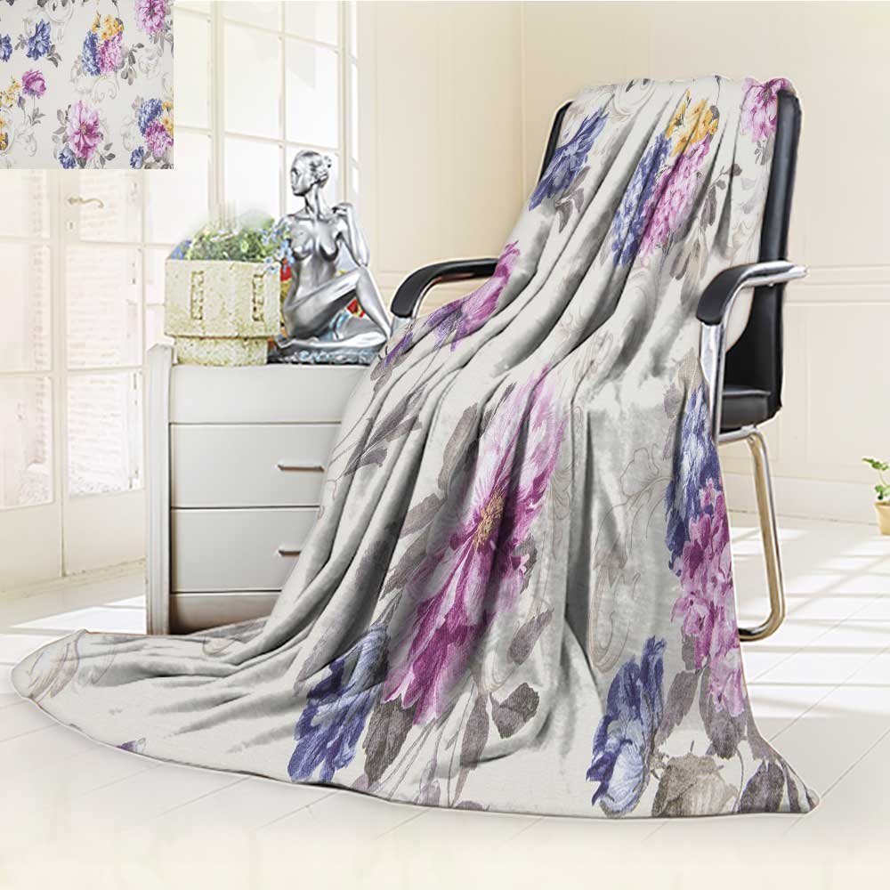 DOLLAR Blanket,fragment of colorful retro tapestry textile pattern with floral ornament useful Traveling, Hiking, Camping, Full Queen, TV, Cabin, Couch, Bed Throw(60''x 50'')