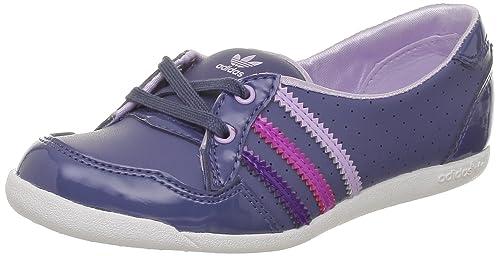 adidas Originals Forum Slipper K, Mocasines para Niñas, Gris-Grau Steel Power Purple S12 / Running White FTW, 38 2/3 EU: Amazon.es: Zapatos y complementos
