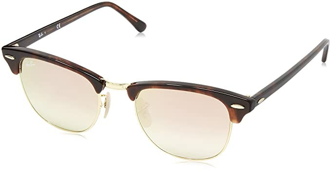 RAY BAN Men\'s Clubmaster (49 Mm) Sunglasses,Multicolor (frame: red ...