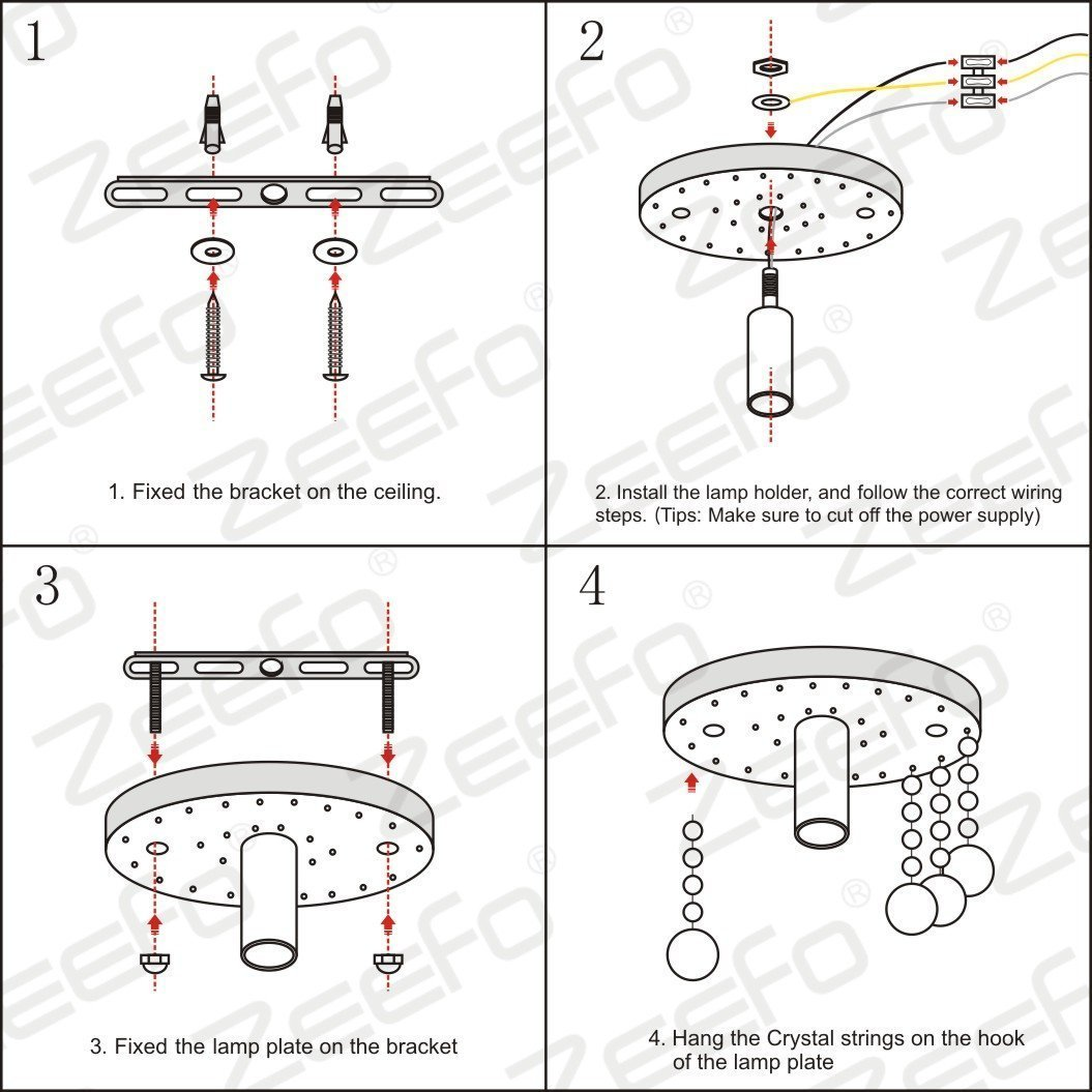 Mini Style 1-light Flush Mount Crystal Chandelier Ceiling Light for Bedroom(Diameter 7.87'')