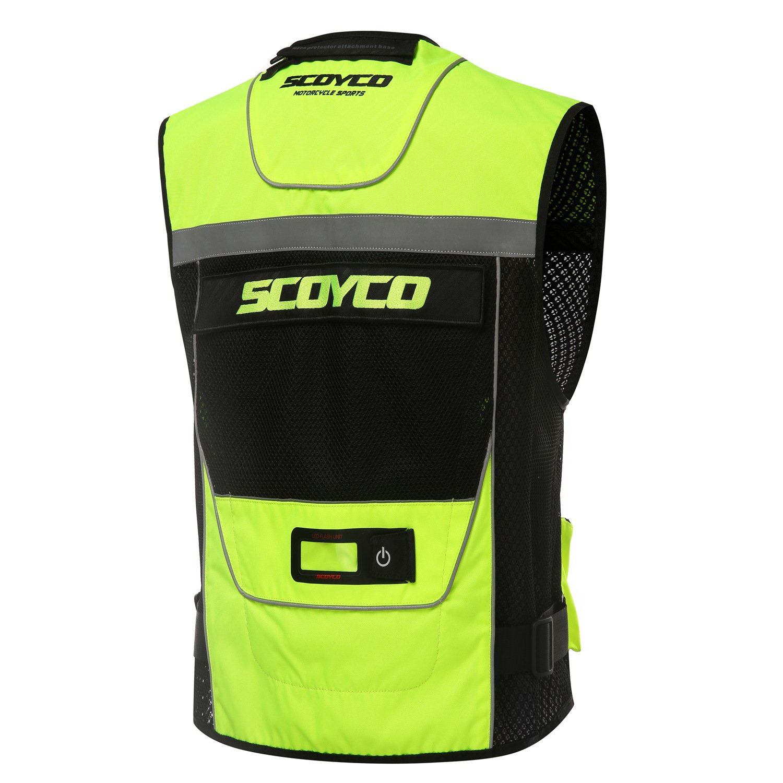 Scoyco JK46 Motorcycle Auto Racing Vest Men Motocross Jacket Protective Gear XXL, Black