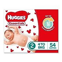 Huggies Essentials Nappies, Size 2 Infant (4-8kg), 54 Count