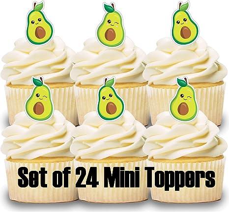 Magnificent Amazon Com 24 Mini Cupcake Toppers Avocado Birthday Party Cake Funny Birthday Cards Online Hendilapandamsfinfo
