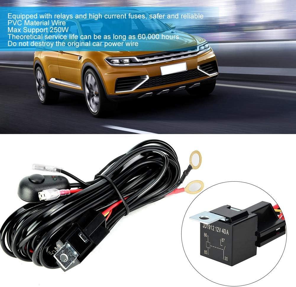 Arnés de Cableado de Luz LED, Lámpara de Automóvil 12 / 24V 250W ...