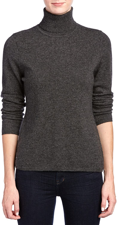 Lusso Luxury Women's Cashmere Long Sleeve Basic Turtleneck