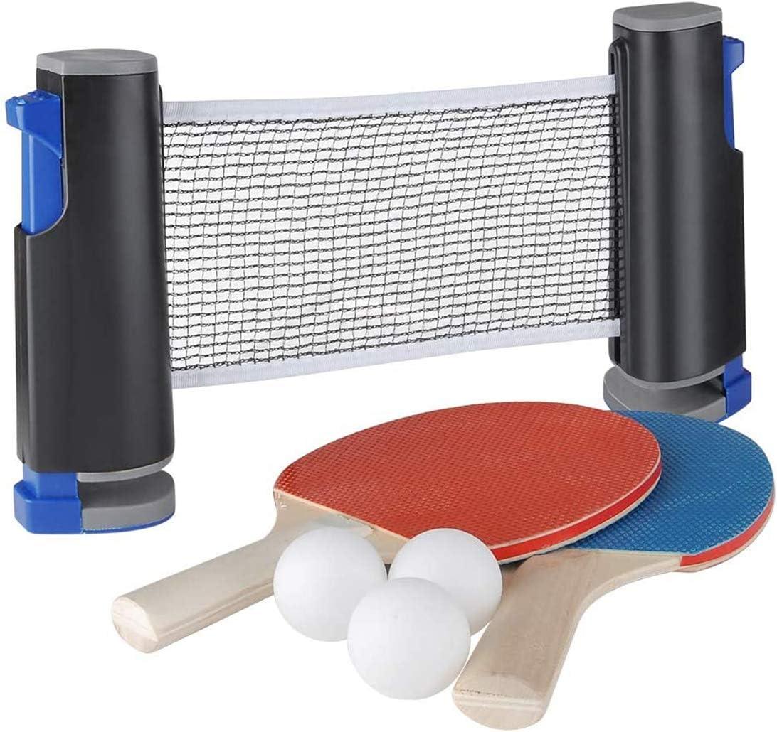 Tenis De Mesa Tenis De Mesa Neto Red, Conjuntos De Ping Pong Tenis Universal Incl. 2 Raquetas 3 Bolas Y Mesa De Ping-Pong Neto Conjunto De Tenis con Malla