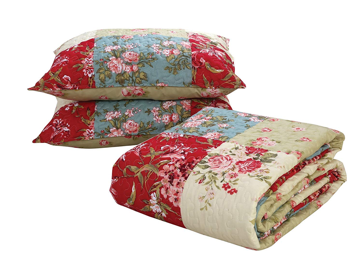 Coast to Coast Living 3-Pc Quilt Sets Luxurious Soft Hypoallergenic Tmart Brands Mosaic, Queen