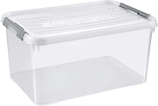 Allibert Caja Handy Plus de almacenaje Transparente con Tapa y ...
