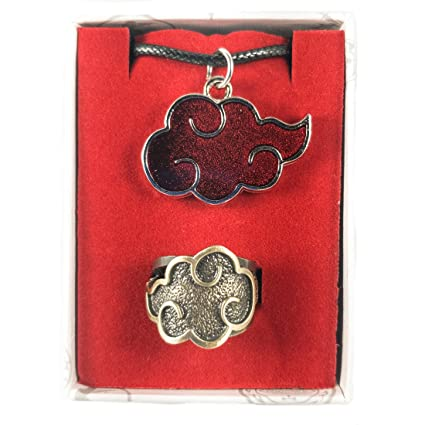 Akatsuki Naruto Necklace and Ring Gift Pack Box Set: Amazon in: Toys