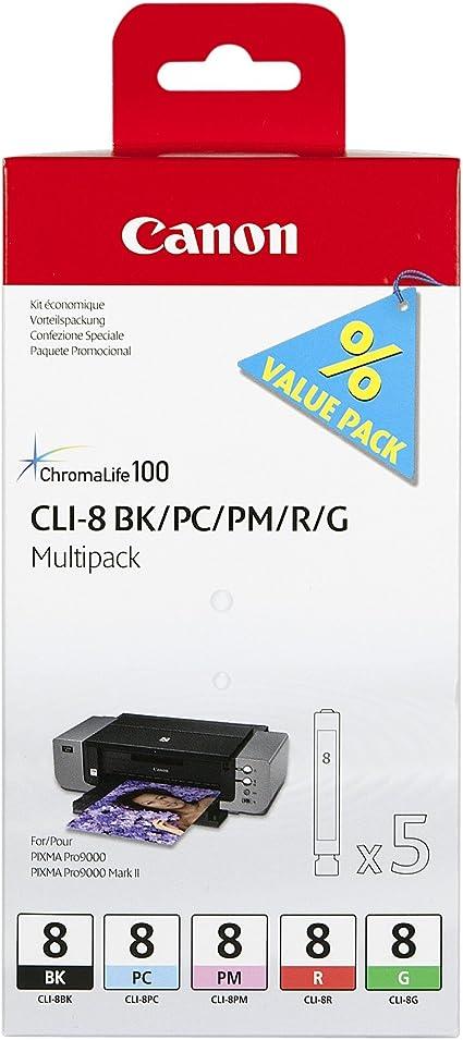 Canon CLI-8 5 Cartuchos Multipack de tinta original BK/PC/PM/R/G ...