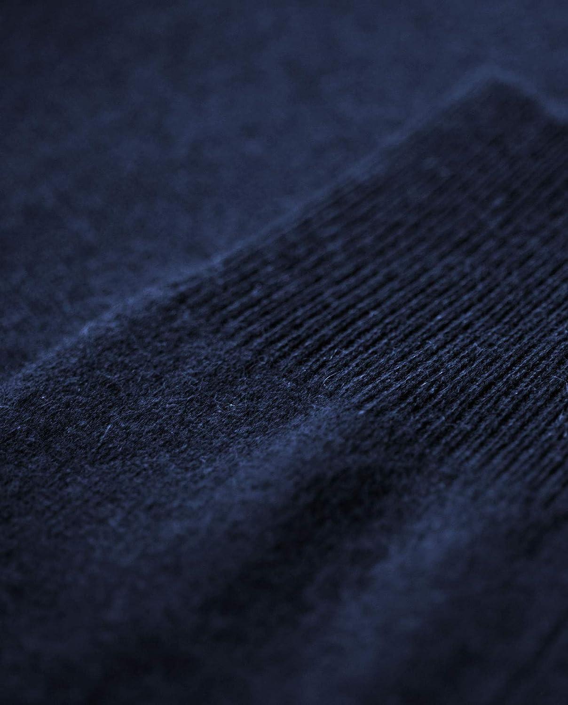 CASH-MERE.CH 100% Kaschmir Herren Pullover   Sweater Rundhalsausschnitt 2-fädig Marine