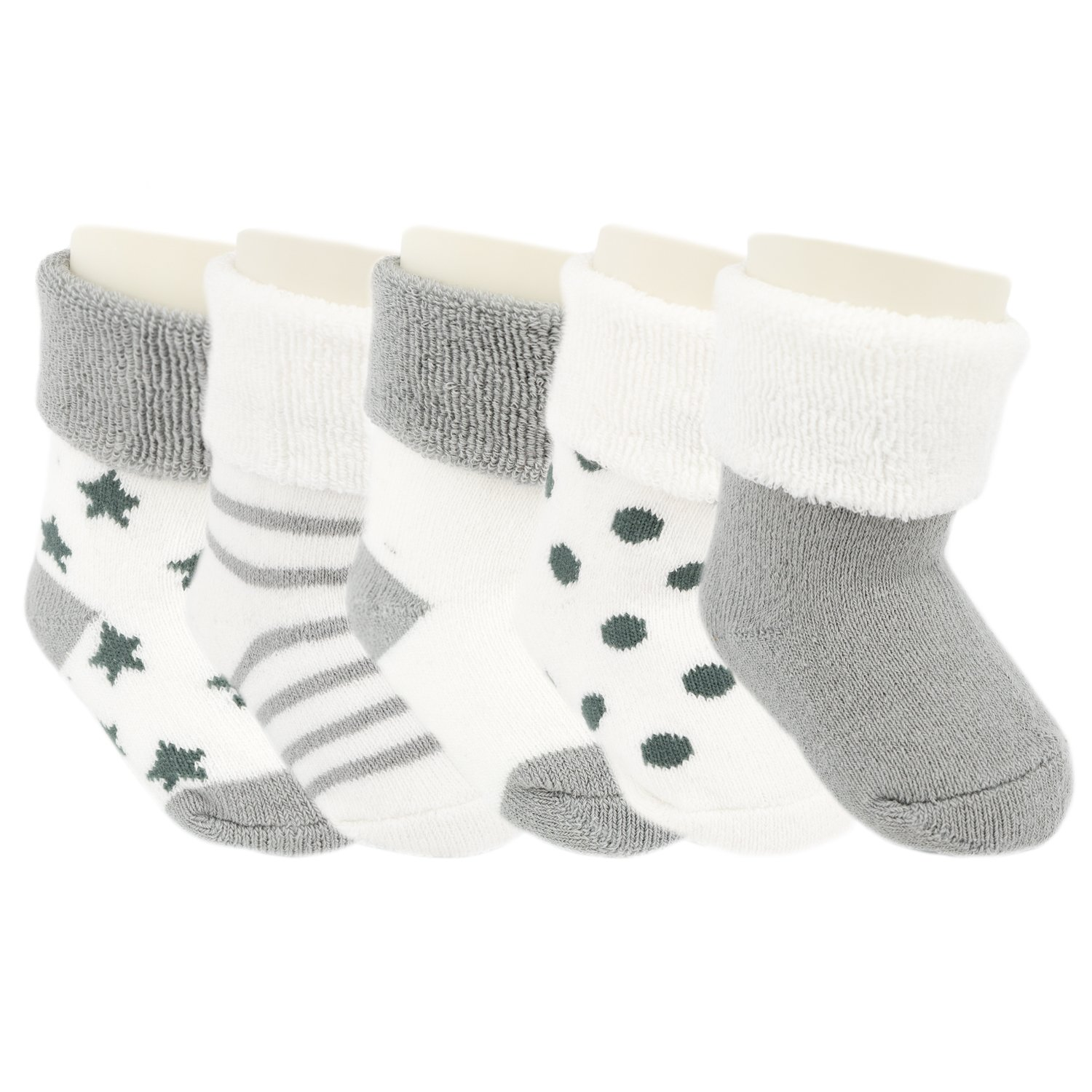 Ateid Baby Toddler Ankle Thick Socks Winter Socks Pack of 5