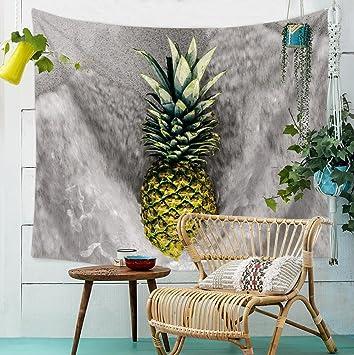 Bunte Ananas Ausgangswand Tapisserie Hängendes  Stoff Hintergrund Tischdecken Schlafzimmer Dekorativ