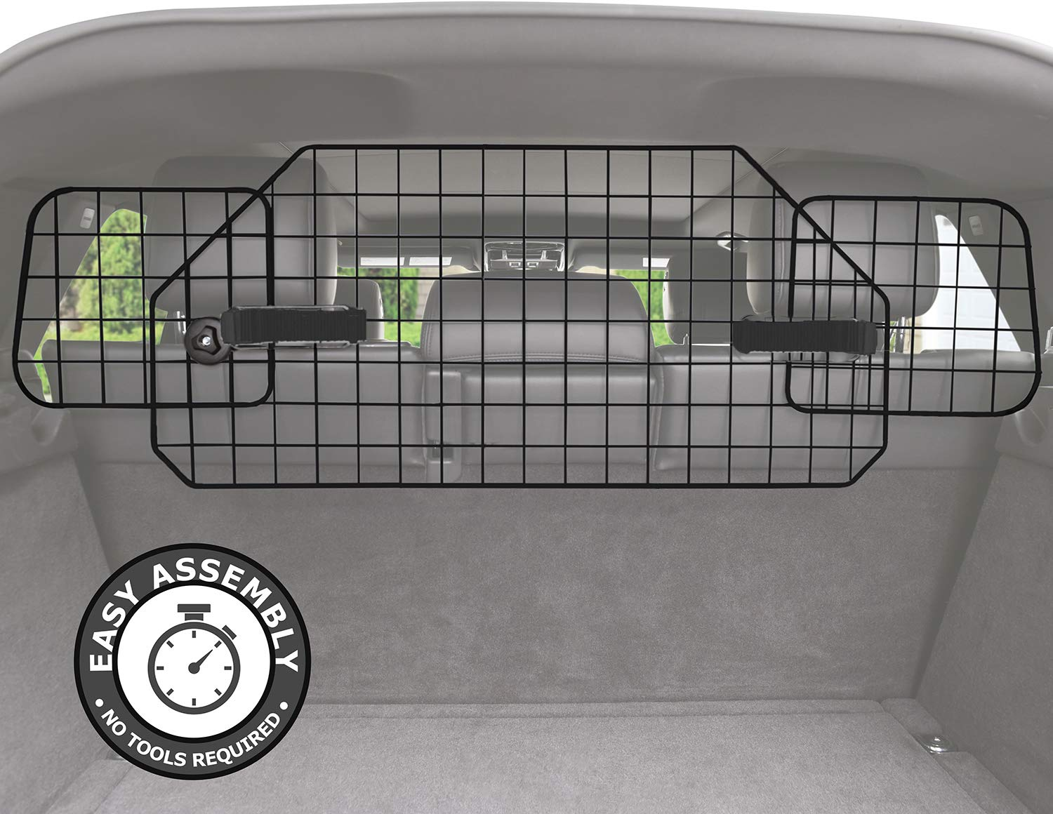 Pawple Dog Barrier for SUV's, Cars & Vehicles, Heavy-Duty - Adjustable Pet Barrier, Universal Fit by Pawple Pets