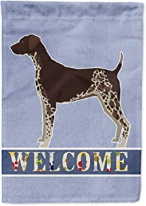 Caroline's Treasures CK3600GF German Shorthaired Pointer Welcome Flag Garden Size, Small, Multicolor