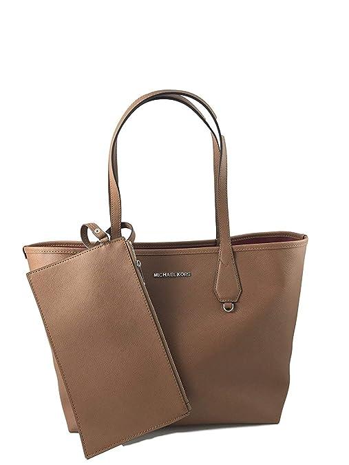 2a8a7c4c24fc Amazon.com  Michael Kors Candy LG Reversible PVC Tote Bag Black Pearl Grey   Shoes