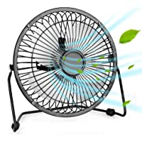 Portable USB Fan - Personal Desk Fan with 1.4m USB Cable, 6 Inch Mini Fan USB Fans for Desk, Quiet and Powerful, Perfect Office Fan USB Personal Fan for Home & Office in Hot Summer Days